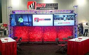 The ACT Ohio booth at OETC 2016.Throughout the course of the event, educators were made aware of the important role apprenticeships play in the construction industry and how they can directly benefit students.