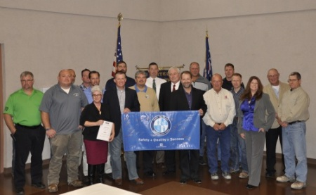 Members of the Northwest Ohio Building Trades, representative from Black and Veatch, and OHSA took part in a historic safety signing agreement for the Oregon Clean Energy Power Plant.ACT Ohio congratulates all parties for looking out for the safety of the men and women who are constructing the $850 million, 800-megawatt natural gas-fired power plant.