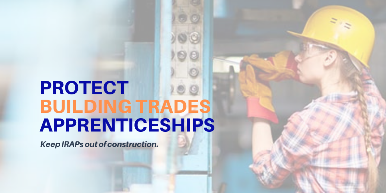 US DOL Issues Final IRAP Rule on Construction Apprenticeships