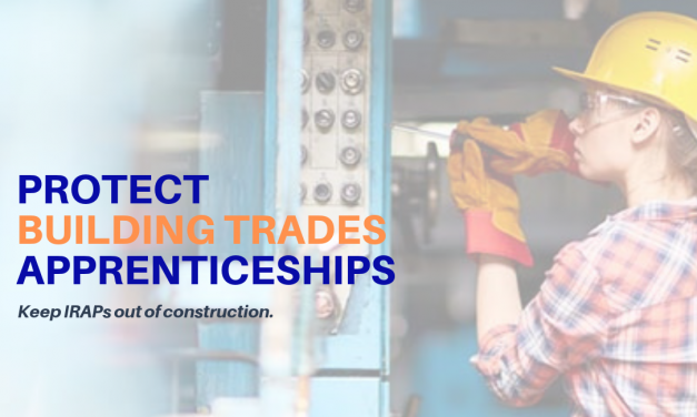 Building Trades rally against IRAP threat to construction apprenticeships