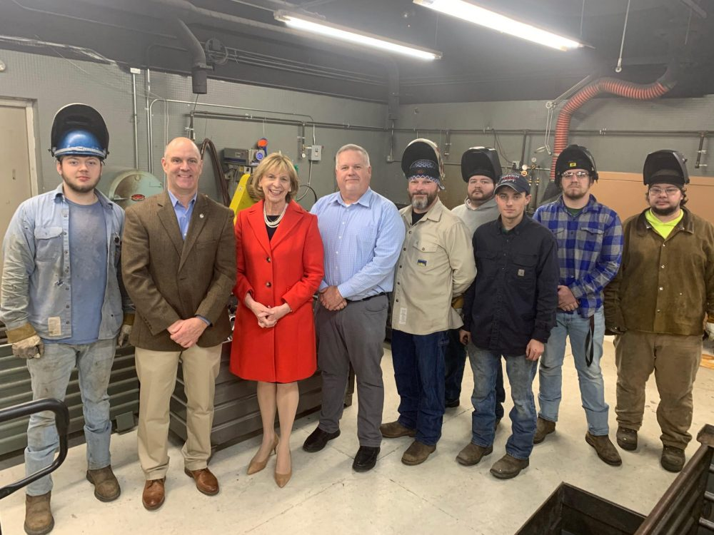 Ohio First Lady Fran DeWine at Plumbers and Pipefitters 577 JATC Apprenticeship Training Center in Portsmouth, Ohio