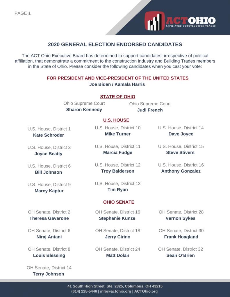 2020 Endorsed Candidates pg. 1
