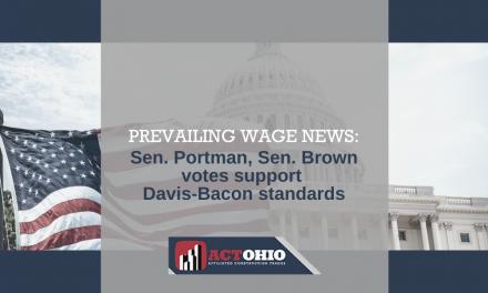 Sen. Portman, Sen. Brown Vote to Uphold Prevailing Wage